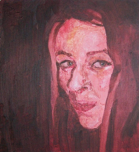 Delia - Oil on wood