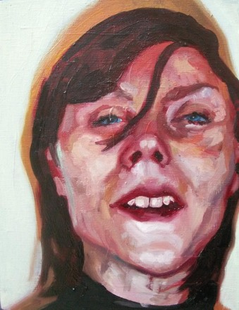 Laura - Oil on wood