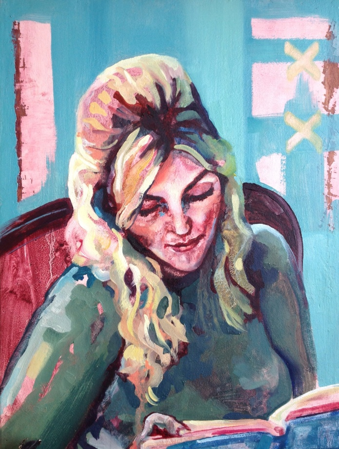 Painting of Supermodel/Author Sophie Dahl, live sitting at Maxim's Parlour, Paris ( 6 hours) Sky Arts Portrait Artist of the Year 2013