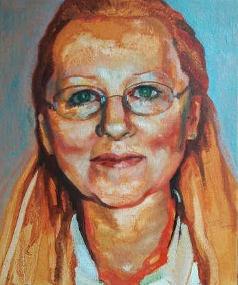 Sigrid - from photo 25x30cms
