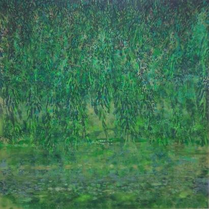 'Green Velvet Dawn' 200x200cms